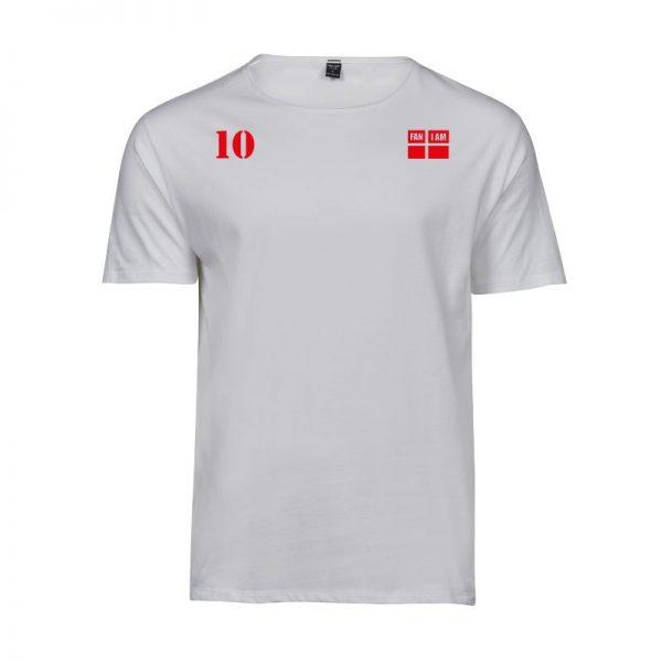 Herre t-shirt med faniam logo og 10 tal