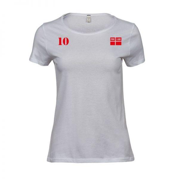 Damer t-shirt med faniam logo og 10 tal