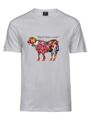 Kreative dage t-shirt mænd med ko